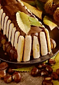Chestnut tree trunk (chestnut cake with sponges & chocolate)