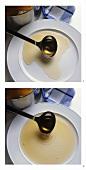 Making a pool of sherry aspic