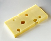 A piece of Emmental cheese