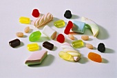 Assorted fruit gums and sweets