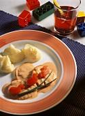 Mini-cutlets (small chicken breast fillets) for children