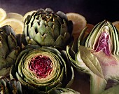 Artichokes Cut in Half