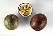 Two whole and a half maracuya (purple granadilla)