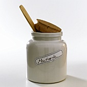 Mustard in white china pot