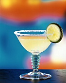 Margarita with Salt and Lime Slice