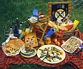 Picnic Scene with Picnic Basket