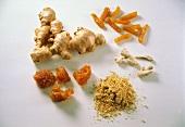 Ingwer: frisch, getrocknet, gemahlen, kandierter, eingelegt