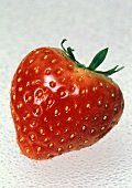 Close Up of a Single Strawberry