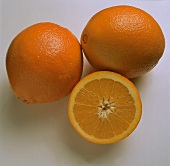 Two whole and half a navel orange