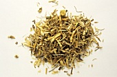 A heap of couch grass root (Elymus repens, natural remedy)