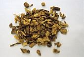A heap of liquorice (Glycyrrhiza glabra)