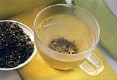 Darjeeling Tea Leaves and Hot Tea