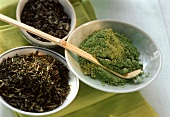 Different Stages of Green Tea