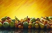Früchtestilleben mit frischem Obst & Früchten