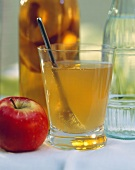 Apple Vinegar in a Glass with Spoon
