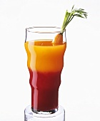 A glass of beetroot and carrot juice
