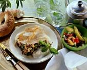 Mince and spinach börek (Turkish casserole in yufka pastry)