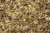 Powdered willow bark (Salix spec.; close-up)