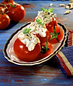 Tomatoes Filled with Cheese and Pine Nuts