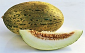 Luminosa melon, whole and wedge