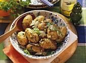 Parsley new potatoes (potatoes with parsley & garlic)