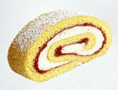 Sponge roulade with lemon cream & jam filling