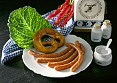 Several Links of Bratwurst