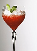 Strawberry sorbet (strawberry juice with champagne & ice)