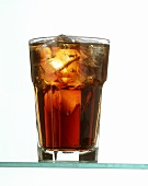 Glass with Coca-Cola and Ice
