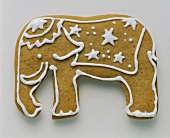 A Single Elephant Shaped Sugar Cookie
