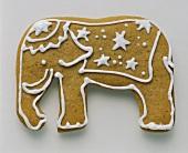 A Single Elephant Shaped Sugar Cookie
