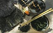 Verschiedene Algensorten (Zutaten für japanische Gerichte)
