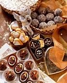 Rum truffles, fondants, cream truffles & marzipan sweets