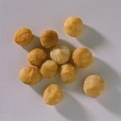 A few macadamia nut kernels