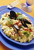 Risotto di mare (seafood risotto, Italy)