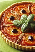 Provencal tart with tomatoes and anchovies