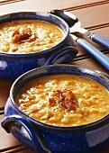 Sweet potato soup with bacon