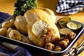 Roast turkey with vegetable & pine nut stuffing