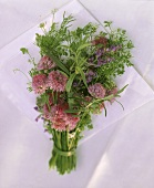 Posy of flowering herbs