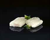 Two Alaska pollack fillets (thawed frozen product)