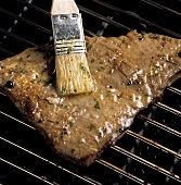 Grilled Tuna Steak on the Grill