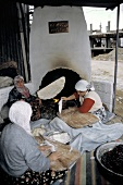 Women In Turkey Baking Flat Bread