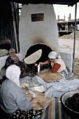 Women In Turkey Baking Flat Bread