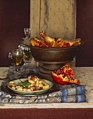 Stewed Chicken in a Cast Iron Pot
