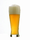 A glass of Weissbier (Hefeweizen)