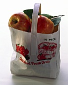 Fresh Orchard Apples in a Bag