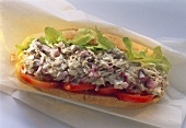 Tuna Salad Sub from Overhead