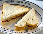 Peanut Butter and Jelly Sandwich on White
