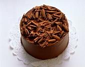 A chocolate gateau