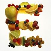 Fruit Forming the Letter E